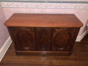 Victorian Figured Walnut Credenza