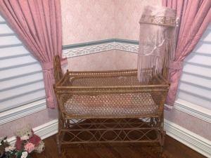 Victorian Wicker Basinet