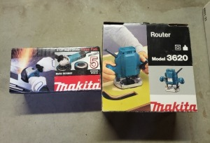 Makita Angle Grinder And Router Lot