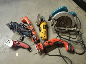(6) Hand Power Tools Lot - Ryobi/DeWalt/Makita
