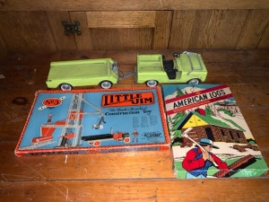 (3) Antique Toys Lot - Little Jim / American Logs Lot