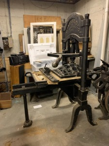 Antique Newspaper Press - Wm Afield Co. Chicago, IL