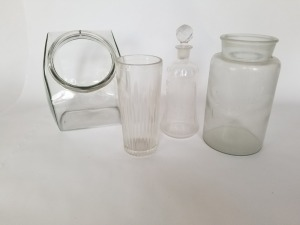 Vintage Apothecary and Decanter Lot-