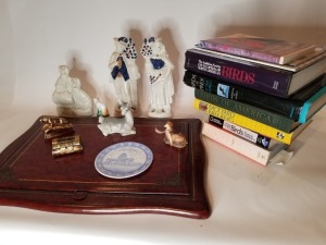 Antique Staffordshire Figurine and Book Lot