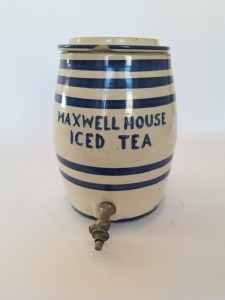 Antique Maxwell House Iced Tea Beverage Dispenser Stoneware