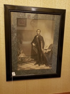 "Abe Lincoln Antique Print- 38"" x 31"""