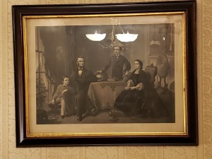 "Lincoln And His Family - Antique Litho 24"" x 31"""