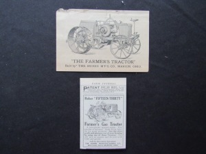 The Farmer's Tractor Card and newspaper clipping