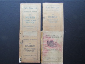 4 Parts Price List and Operating Instructions for Huber Light Four