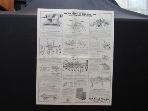 Rock Island Plow Implements Poster
