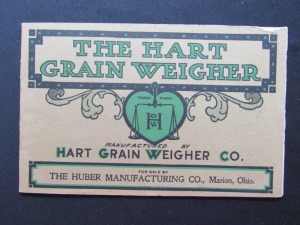 "1907 ""The Hart Grain Weigher"""