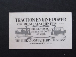 Traction Engine Power for Road Machinery