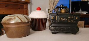 McCoy Vintage stove cookie jar, and more. See photos