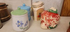 Strawberry cookie jar. Plus more. See photos.
