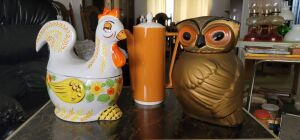 Retro Hen cookie jar and more see photos