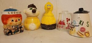 Vintage Big Bird Muppets Inc. 971 Cookie Jar and More. See Photos