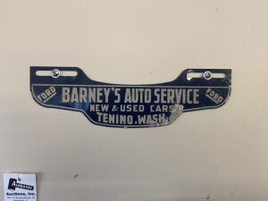 Ford Auto Service License Plate Sign