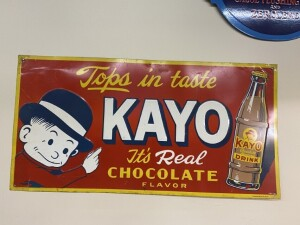 Kayo Chocolate Flavored Drink Sign