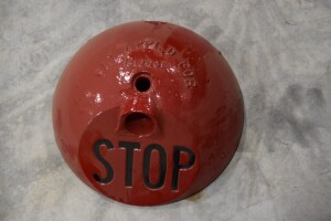 Cast Iron Traffic Stop Sign Base