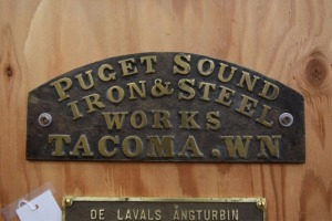 Puget Sounds Iron Works Brass Plate