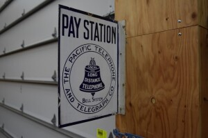 The Pacific Telephone Pay Station Flange Sign