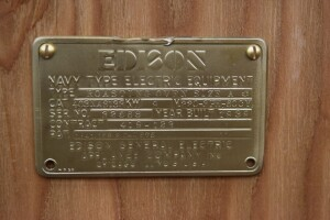 Edison Navy Type Electrical Equipment Cast Brass Tag