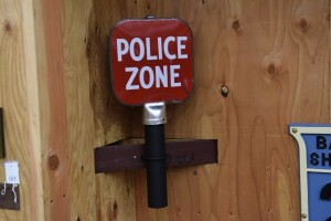 Police Zone Post Sign