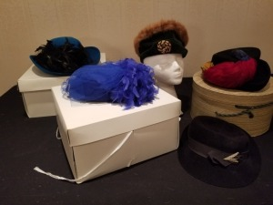 Women's Hats - Blue Feathers