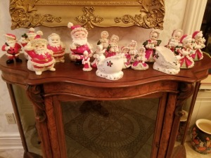 Holiday Santa's And Figurines Lot