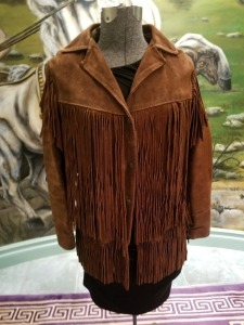 Distinctive Leather Jacket - Brown size 12