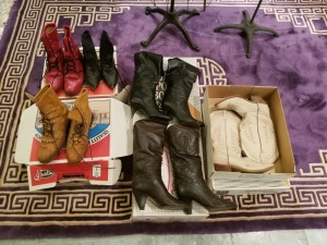 Assorted Leather Boots Lot