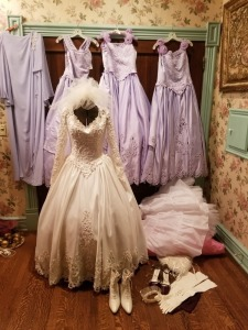 Wedding Dress With Bridesmaid Dress Lot