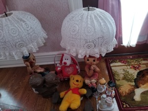 Antique Skates, Lamps , and Collectibles Lot