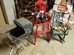 Carriage , Highchair, And Chair - Basement