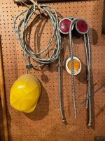 Hard Hat, Signal Lights, Electric Cord, water Lines