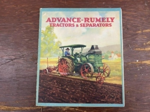 Advance Rumely Tractors and Separators Booklet