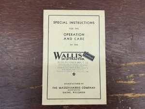 Wallis 20-30 Tractor Operation and Care Manual