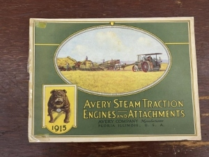 1915 Avery Steam Traction Engines and Attachments Catalog