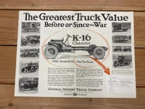 GMC Model K-16 Truck Chassis Foldout