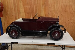 Early Teens American National Wood Frame Pedal Car