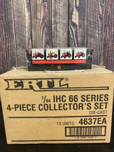 "Various Scale 1/64 Ertl International Harvester IHC""66"" Series 4 Piece Collector's Set #2"