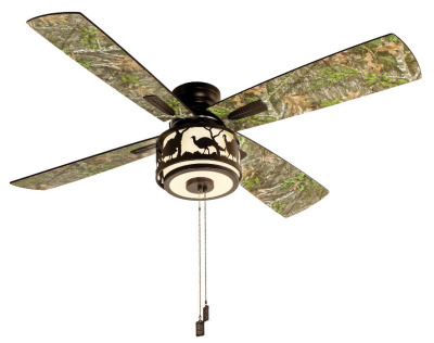 NWTF/Mossy Oak Ceiling Fan- Blades are reversible to show Mo