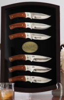Six Species Wild Turkey Knife Set with Display Case