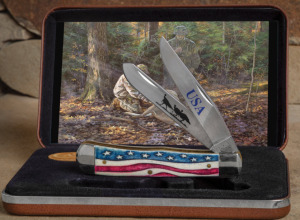 "Knife of the Year - Case Star Spangled Knife in box with ""A"
