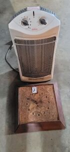 Electric heater and clock