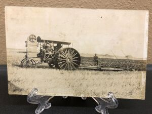 Reeves 40 gas tractor Plowing