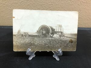 Early Gas Traction with Reeves plow postcard