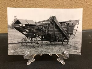 J. I. Case threshing machine postcard