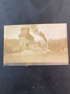 Vintage Steam Engine PostCard