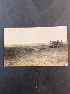 Traction Engine Seeding in Taber District Postcard
